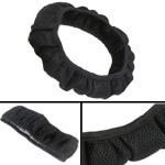 Slip On Black Mesh Steering Wheel Cover (Universal Fit)