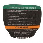 Club Car Precedent Gas Operating Instructions Decal (Fits 2012-Up)
