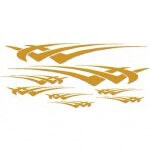 Gold Hawk Graphic (Universal Fit)
