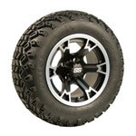 Set of (4) 12 inch Raven Wheels on All-Terrain Tires (Lift Required)