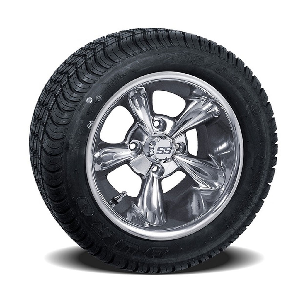 Set Of 4 10 Inch Godfather Wheels On Lo Profile Tires