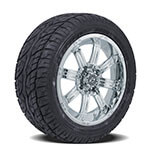 Set of (4) GTW 12 inch Tempest Wheels on Lo-Profile Tires