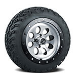 Set of (4) 12 inch Rally Beadlock Wheels on A/ T Tires