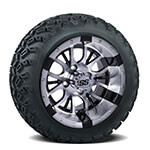 Set of (4) 12 inch Diesel Wheels on A/ T Tires