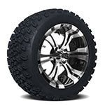 Set of (4) GTW 14 inch Vampire Wheels on A/ T Tires