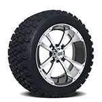Set of (4) GTW 14 inch Storm Trooper Wheels on A/ T Tires