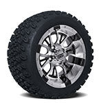 Set of (4) 14 inch Diesel Wheels on A/ T Tires