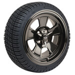 Set of (4) 14 inch Cragar Wheels on Mounted on GTW Street Tires