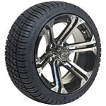 Set of (4) GTW 14inch Specter Machined & Black Wheels on Lo-Pro Tires