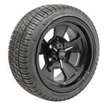 "Set of (4) 14"" Glossy Black Cragar Street Pro Wheels On Lo-Pro Tires"