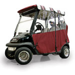 Burgundy Sunbrella 3-Sided Custom Over-The-Top Enclosure (Select Models)