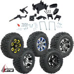 "GTW Lift Kit /  12"" Wheel & Barrage Mud Tire Combo - E-Z-GO RXV 48v Electric (Fits 2008-Up)"