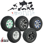 "GTW Lift Kit /  12"" Wheel & Recon A/ T Tire Combo - E-Z-GO RXV 48v Electric (Fits 2008-Up)"
