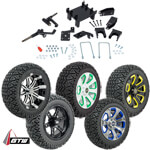 "GTW Lift Kit /  14"" Wheel & Recon A/ T Tire Combo - E-Z-GO RXV 48v Electric (Fits 2008-Up)"