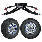 "GTW 6"" Lift w/ 12"" Nemesis Metallic Wheel & Recon A/ T Tire For Club Car DS (1982-2003)"