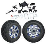 "GTW 5"" Lift w/ 12"" Nemesis Metallic Wheel & Recon A/ T Tire For E-Z-GO RXV (2008-Up)"