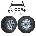 "GTW 5"" Lift w/ 12"" Nemesis Metallic Wheel & Recon A/ T Tire For E-Z-GO TXT (2001.5-Up)"