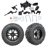 "GTW 5"" Lift w/ 12"" Storm Trooper Black Wheel & Barrage Mud Tire For E-Z-GO RXV (2008-Up)"