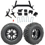 "GTW 5"" Lift w/ 12"" Storm Trooper Black Wheel & Barrage Mud Tire For E-Z-GO TXT (2001.5-Up)"