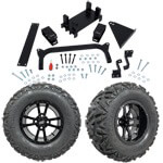 "GTW 5"" Lift w/ 12"" Storm Trooper Black Wheel & Barrage Mud Tire For Yamaha (G29/ Drive)"