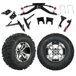 "GTW 6"" Lift w/ 12"" Storm Trooper Machined/ Black Wheel & Barrage Mud Tire For Club Car DS (2004.5-Up)"