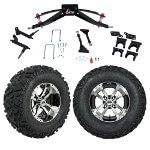 "GTW 6"" Lift w/ 12"" Storm Trooper Mach/ Black Wheel & Barrage Mud Tire For Club Car Precedent (2004-Up)"