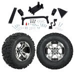 "GTW 5"" Lift w/ 12"" Storm Trooper Machined/ Black Wheel & Barrage Mud Tire For Yamaha (G29/ Drive)"