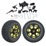 "GTW 5"" Lift w/ 12"" Nemesis Black Wheel & Recon A/ T Tire For E-Z-GO RXV (2008-Up)"