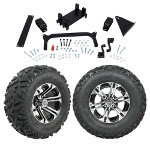 "GTW 5"" Lift w/ 12"" Specter Machined/ Black Wheel & Barrage Mud Tire For Yamaha (G29/ Drive)"
