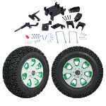"GTW 5"" Lift w/ 12"" Nemesis White Wheel & Recon A/ T Tire For E-Z-GO RXV (2008-Up)"