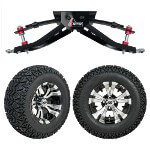 "GTW 6"" Lift w/ 12"" Vampire Machined/ Black Wheel & Recon A/ T Tire For Club Car DS (1982-2003)"