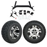 "GTW 5"" Lift w/ 12"" Vampire Machined/ Black Wheel & Recon A/ T Tire For E-Z-GO TXT (2001.5-Up)"