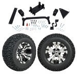 "GTW 5"" Lift w/ 12"" Vampire Machined/ Black Wheel & Recon A/ T Tire For Yamaha (G29/ Drive)"