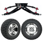 "GTW 6"" Lift w/ 12"" Storm Trooper Machined/ Black Wheel & Recon A/ T Tire For Club Car DS (1982-2003)"