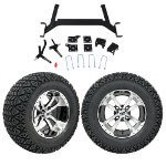 "GTW 5"" Lift w/ 12"" Storm Trooper Machined/ Black Wheel & Recon A/ T Tire For E-Z-GO TXT (2001.5-Up)"
