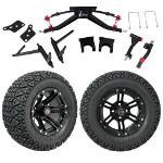 "GTW 6"" Lift w/ 12"" Specter Matte Black Wheel & Recon A/ T Tire For Club Car DS (2004.5-Up)"