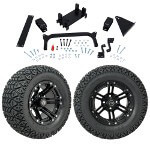 "GTW 5"" Lift w/ 12"" Specter Matte Black Wheel & Recon A/ T Tire For Yamaha (G29/ Drive)"