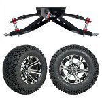 "GTW 6"" Lift w/ 12"" Specter Machined/ Black Wheel & Recon A/ T Tire For Club Car DS (1982-2003)"