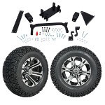 "GTW 5"" Lift w/ 12"" Specter Machined/ Black Wheel & Recon A/ T Tire For Yamaha (G29/ Drive)"