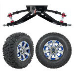 "GTW 6"" Lift w/ 12"" Nemesis Metallic Wheel & Barrage Mud Tire For Club Car DS (1982-2003)"
