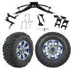 "GTW 6"" Lift w/ 12"" Nemesis Metallic Wheel & Barrage Mud Tire For Club Car Precedent (2004-Up)"