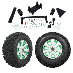 "GTW 5"" Lift w/ 12"" Nemesis White Wheel & Barrage Mud Tire For Yamaha (G29/ Drive)"