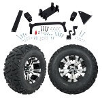 "GTW 5"" Lift w/ 12"" Vampire Machined/ Black Wheel & Barrage Mud Tire For Yamaha (G29/ Drive)"