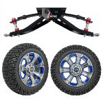 "GTW 6"" Lift w/ 14"" Nemesis Metallic Wheel & Recon A/ T Tire For Club Car DS (1982-2003)"