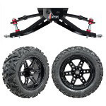 "GTW 6"" Lift w/ 14"" Dominator Matte Black Wheel & Barrage Mud Tire For Club Car DS (1982-2003)"