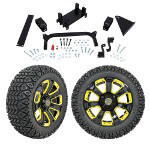 "GTW 5"" Lift w/ 14"" Nemesis Black Wheel & Recon A/ T Tire For Yamaha (G29/ Drive)"