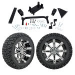 "GTW 5"" Lift w/ 14"" Tempest Machined/ Black Wheel & Recon A/ T Tire For Yamaha (G29/ Drive)"