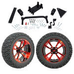 "GTW 5"" Lift w/ 14"" Storm Trooper Red/ Black Wheel & Recon A/ T Tire For Yamaha (G29/ Drive)"