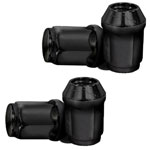 4 Pack Black 1/ 2-20 Standard Lug Nuts