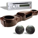 Woodgrain Complete Marine Grade Overhead Radio Kits (Select Model)